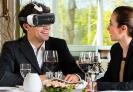 VR Dining Game op locatie